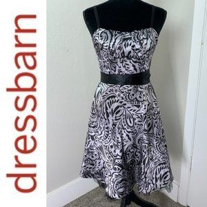 Dress barn paisley satin party cocktail dr…